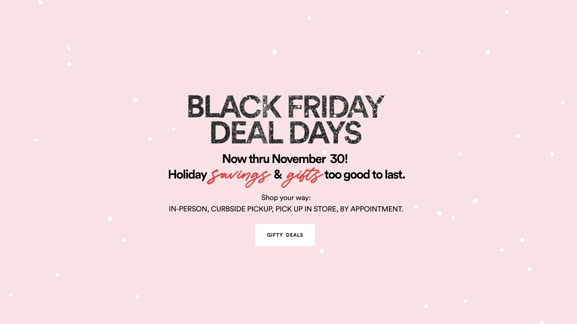 all centers - hero - black friday deal days image