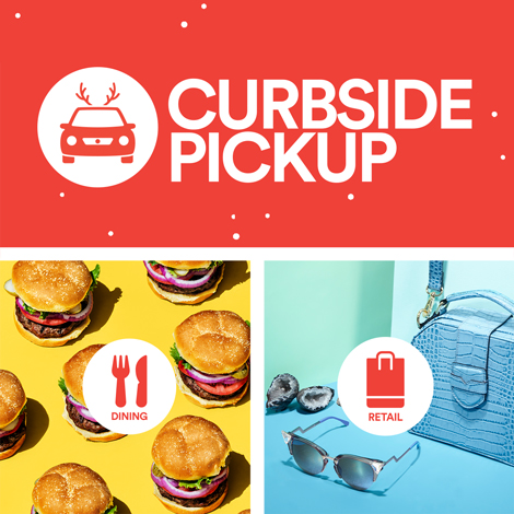 the galleria - promo - curbside pickup holiday - Copy image