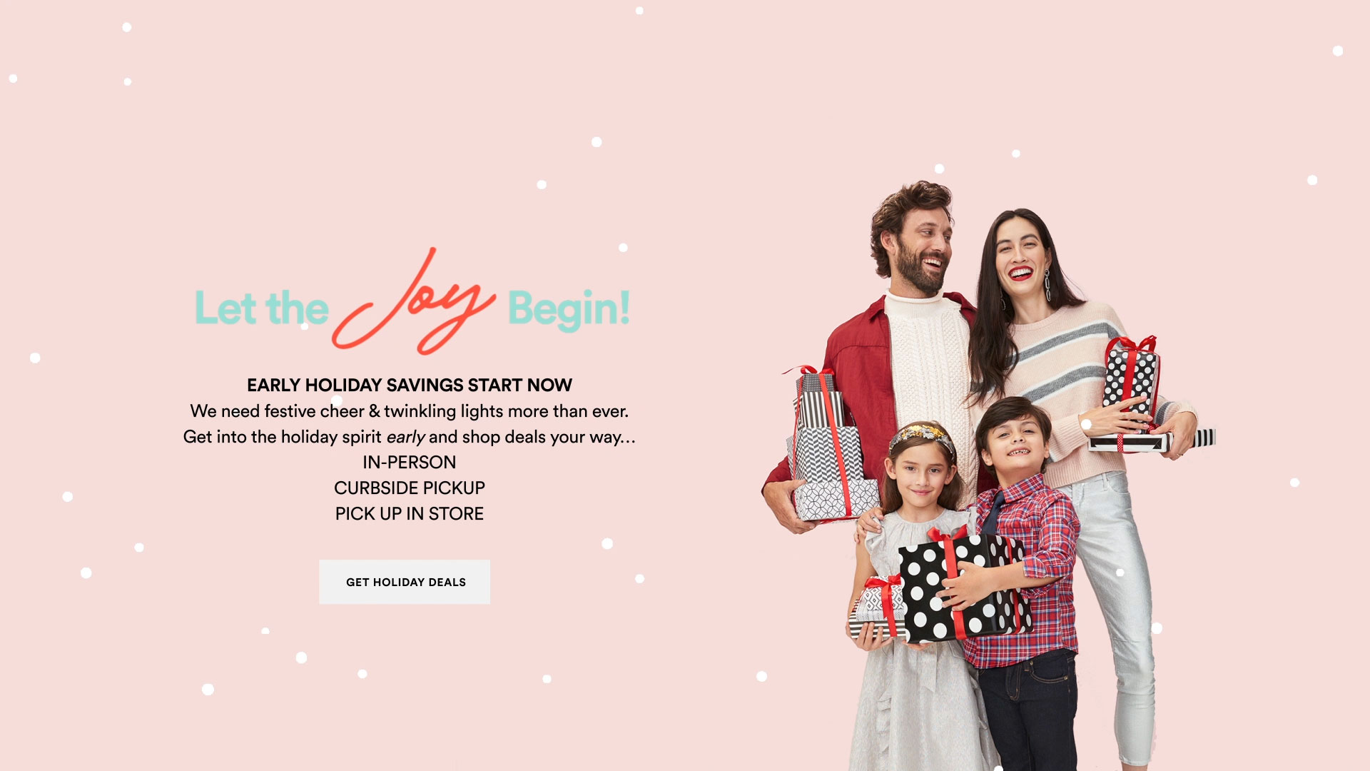 all mass expression centers - hero - let the joy/savings begin image