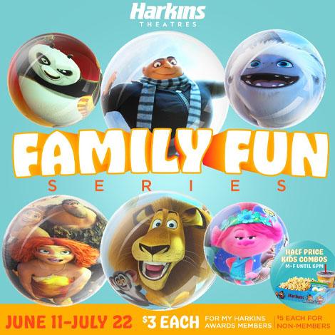 Arizona Mills - promo - Harkins Family Fun Series image