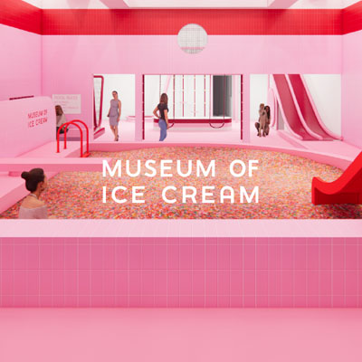 simon.com homepage - spot 1 - coming soon: museum of ice cream at the domain image