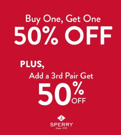 Limited Time BOGO Savings at Sperry!