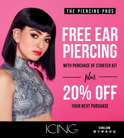Free Ear Piercing Every Day