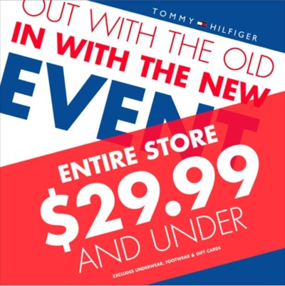 Entire Store $29.99 and Under!