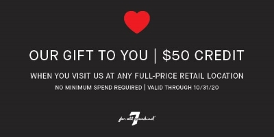 7 for All Mankind $50 Credit