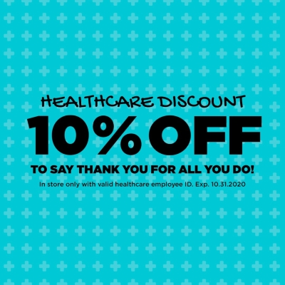 Healthcare workers receive 10% off
