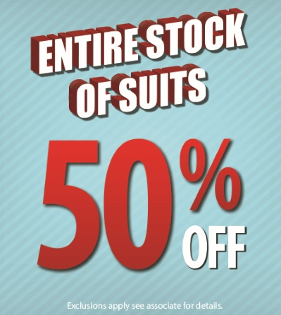 Entire Stock 50% Off