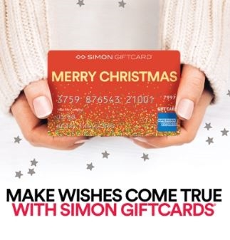 Make  wishes come true with Simon Giftcards!