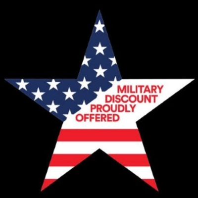 MILITARY DISCOUNT PROUDLY OFFERED