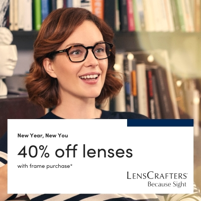 40% off Lenses with a Frame Purchase
