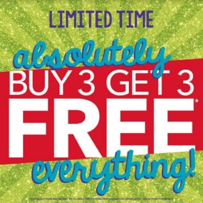 Buy 3 Get 3 FREE EVERYTHING