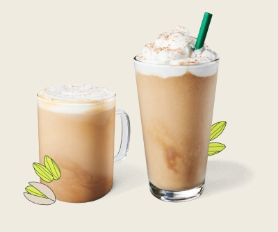 TRY THE NEW PISTACHIO DRINKS AT STARBUCKS
