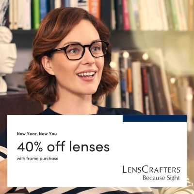 Take 40% Off Lenses at LensCrafters