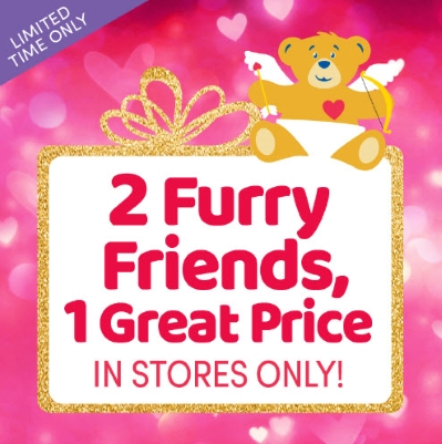 BUILD-A-BEAR: 2 FURRY FRIENDS FOR 1 GREAT PRICE