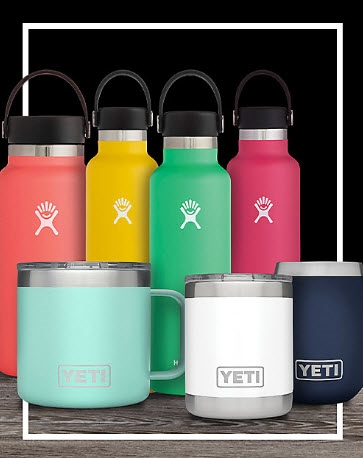 25% OFF SELECT YETI AND HYDRO FLASK