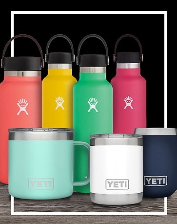 25% OFF SELECT YETI AND HYDROFLASK