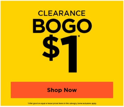 All Clearance BOGO $1