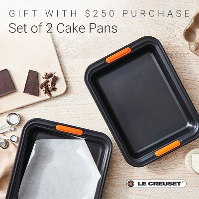Spend $250 and receive a set of 2 Cake Pans