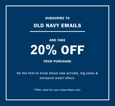 Old Navy Email Subscribers Get 20% OFF