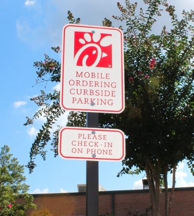 Chick-fil-A Menlo Park Mall Curbside Delivery