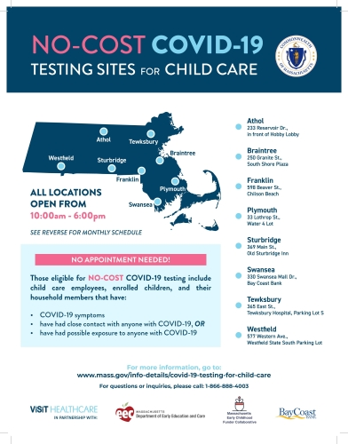 Free Covid-19 Testing for Child Care!