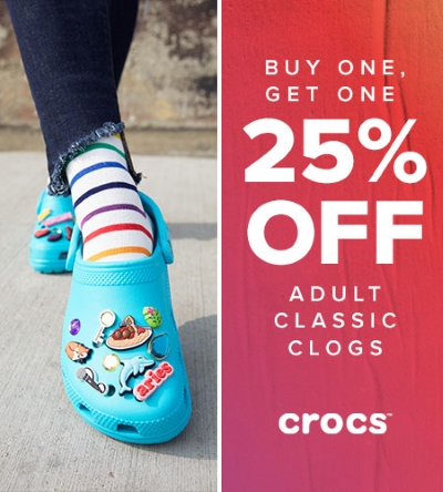 BOGO 25% Off on Adult Classic Clogs!
