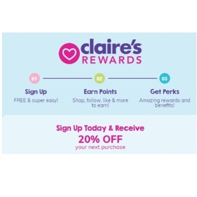 Sign Up for Claire's Rewards and Save