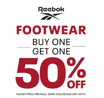 All Footwear: Buy One Get One 50% Off