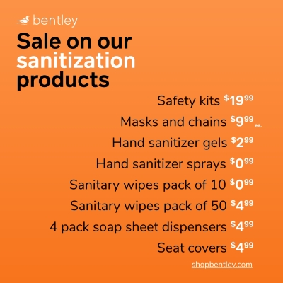 Sale on our sanitization products
