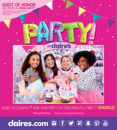 The Party is ON at Claire's!