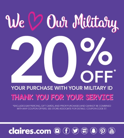 Claire's Military Discount