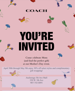 Coach Mother's Day Event