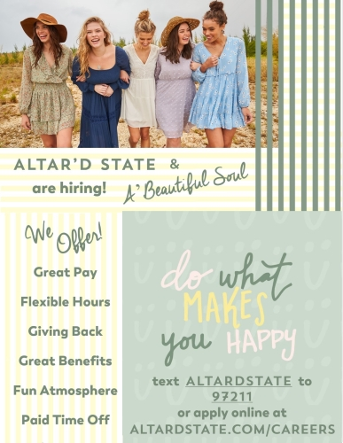 Altar'd State is Hiring