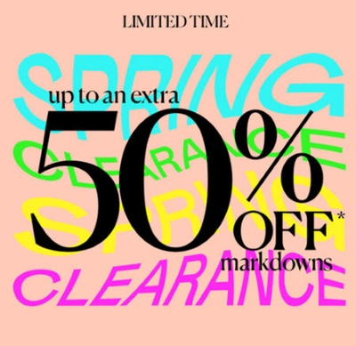 Spring Clearance - Up To 50% Off