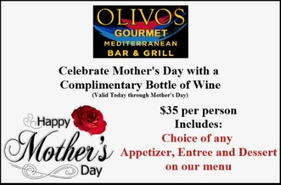 Complimentary Bottle of Wine for Mom
