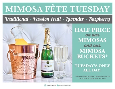 Mimosa Fete Tuesday At Sweet Paris Creperie & Cafe