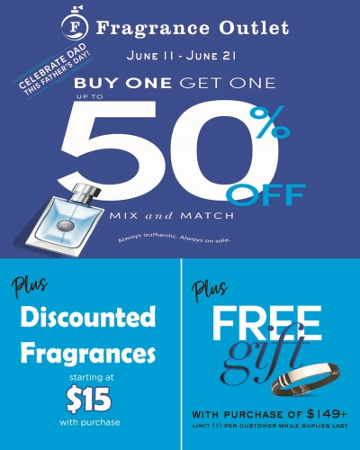 Fragrance Outlet Celebrates Dad this Fathers Day!