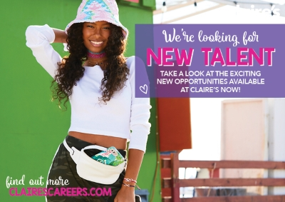 Claire's Now Hiring