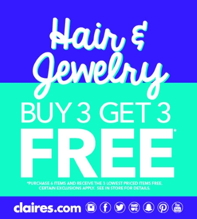 Claire's Hair & Jewelry Sale