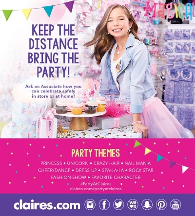 Celebrate at Claires