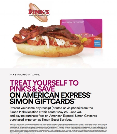 Treat yourself to Pink's & save on AMEX!