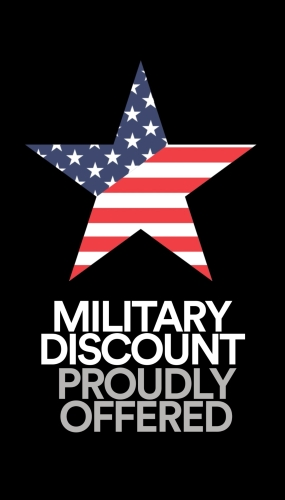 Military Discounts Proudly Offered