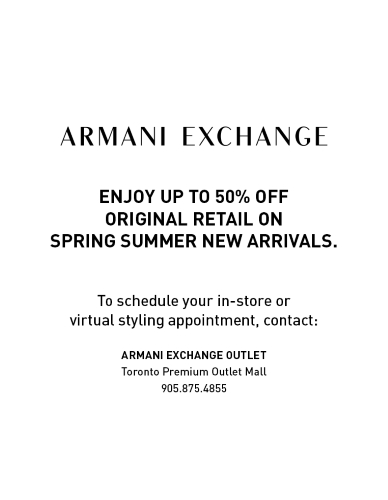 Armani Exchange Virtual Styling Appointments