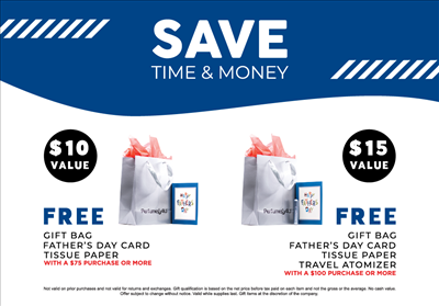 Save Time & Money. Surprise your dad!