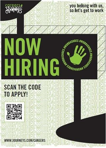 Journeys and Journeys Kidz are hiring.