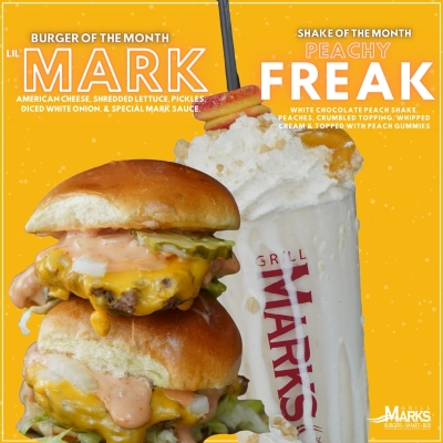 Grill Marks Burger & Shake of the Month