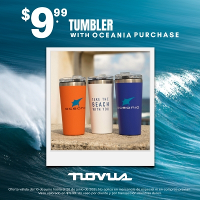 $9.99 Tumbler with OCEANIA Purchase