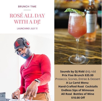 ROSÉ ALL DAY WITH A DJ!