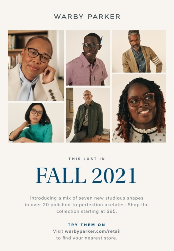 Warby Parker Fall Core 2021 Collection