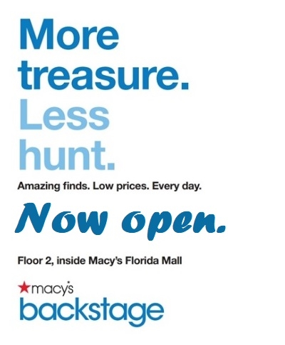 Macy's Backstage is NOW OPEN!